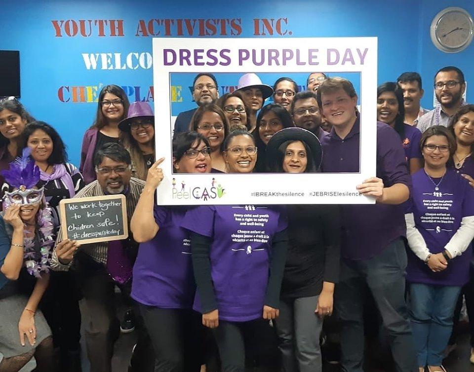 Youth Activists Inc Dress Purple Day